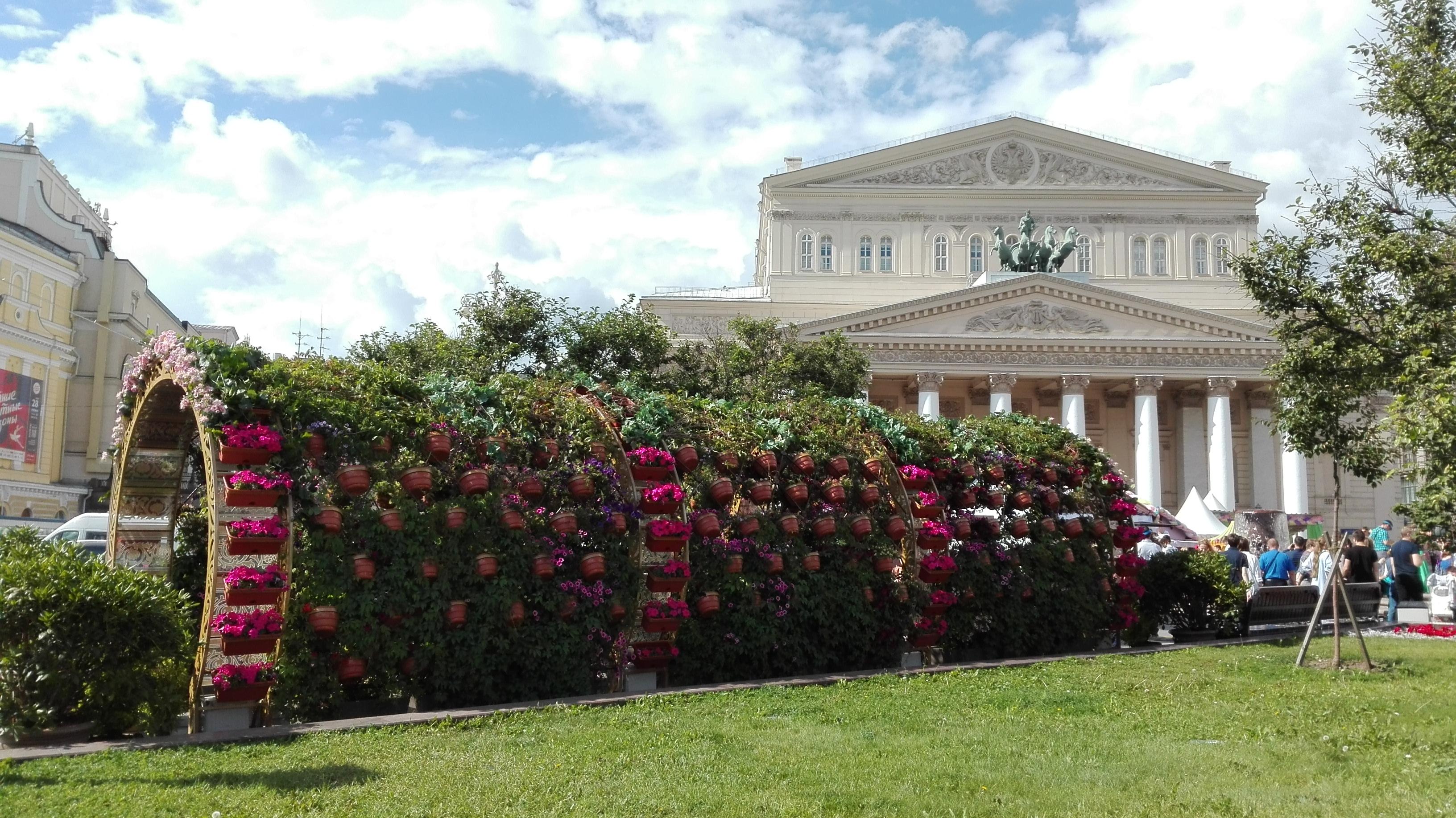 Фестиваль мороженного и фестиваль цветов в Москве летом 2016 года